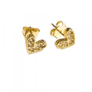 Aros apegados Corazón gold